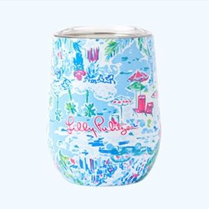 Lilly Pulitzer travel stemless glass